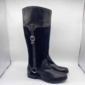 Rockport Black Leather Equestrian Style Boots 9M